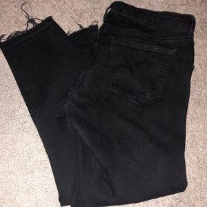 Distressed black jeans- GAP